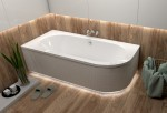 Badewanne Eckbadewanne Avita 150x75 cm links optional: Led-Verkleidung